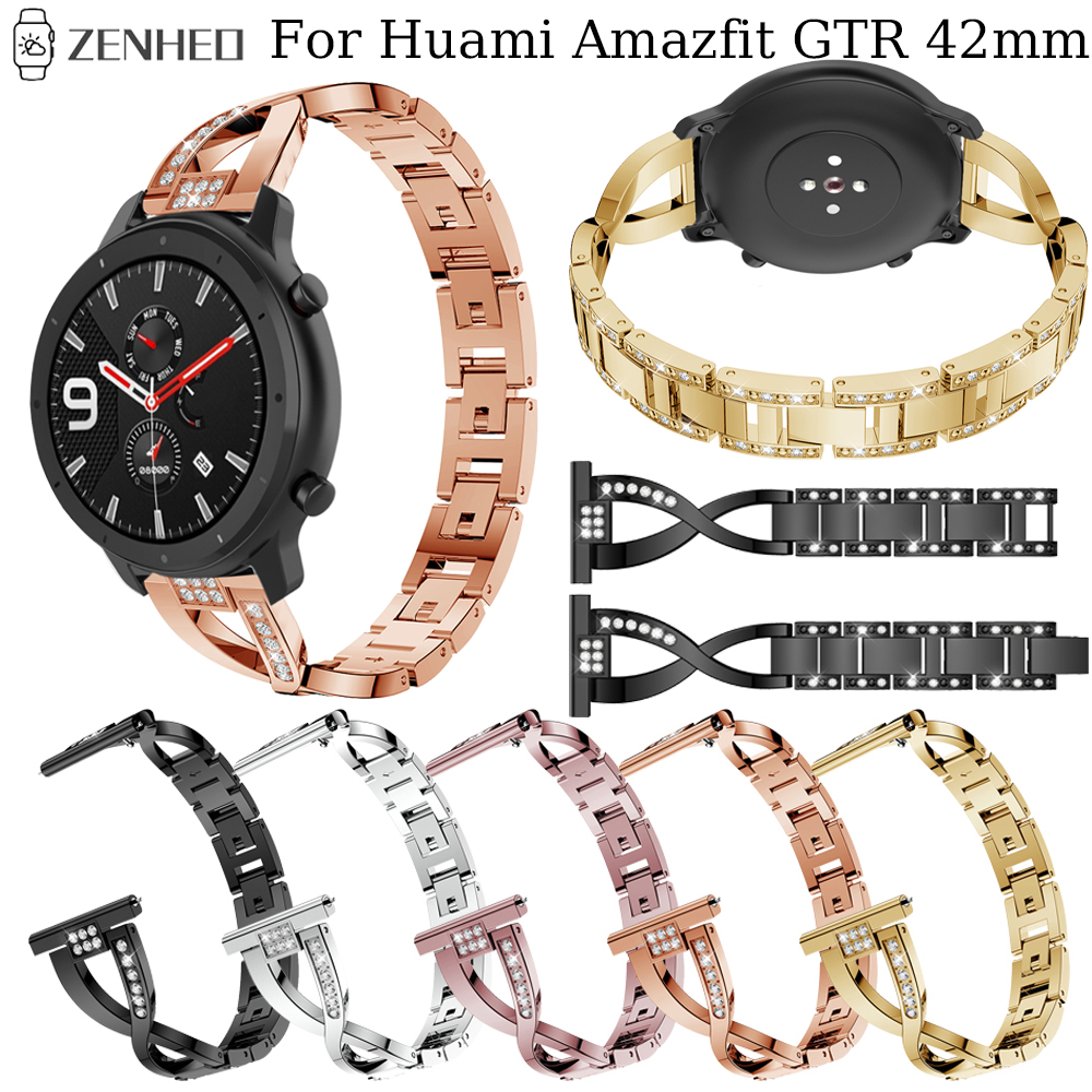 20mm Metal Quick Release Strap For Huami Amazfit GTR 42mm Smart Watch Band For Samsung Galaxy Watch Active Bracelet Accessories