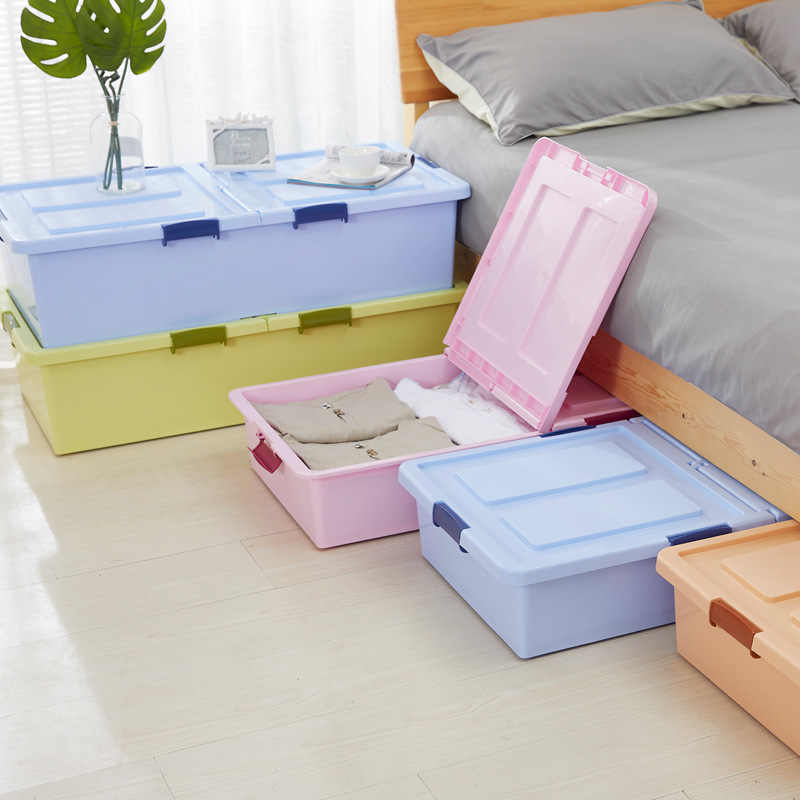Roller Bed Storage Box Flat Extra Large