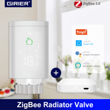 Tuya ZigBee Thermostatic Radiator Valve, Programmable Smart TRV Actuator Temperature