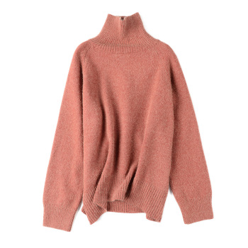 Autumn Winter Women High Quality Turtleneck Sweater Oversize Wool Warm Pullovers Sweater Long Sleeve Cashmere Loose Jumper thick warm women turtleneck 2020 winter women cashmere sweaters and pullovers knit long sleeve wool sweater female jumper