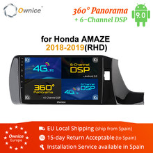Ownice GPS Navi Stereo 2Din 360 Panorama Autoradio K3 K5 K6 for HONDA Amaze RHD 2018 2019 Android 9.0 Octa Core DSP 4G LTE SPDIF(China)
