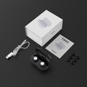 Image 5 - TW60 TWS Wireless Earphone Bluetooth 5.0 HiFi Stereo Headset touch control Handsfree mini Earbuds Built in HD Mic for women girl