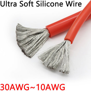 1M/5M Ultra Soft Silicone Wire 30 28 26 24 22 20 18 16 15 14 13 12 10 AWG Heat-resistant cable High Temperature Flexible Copper image
