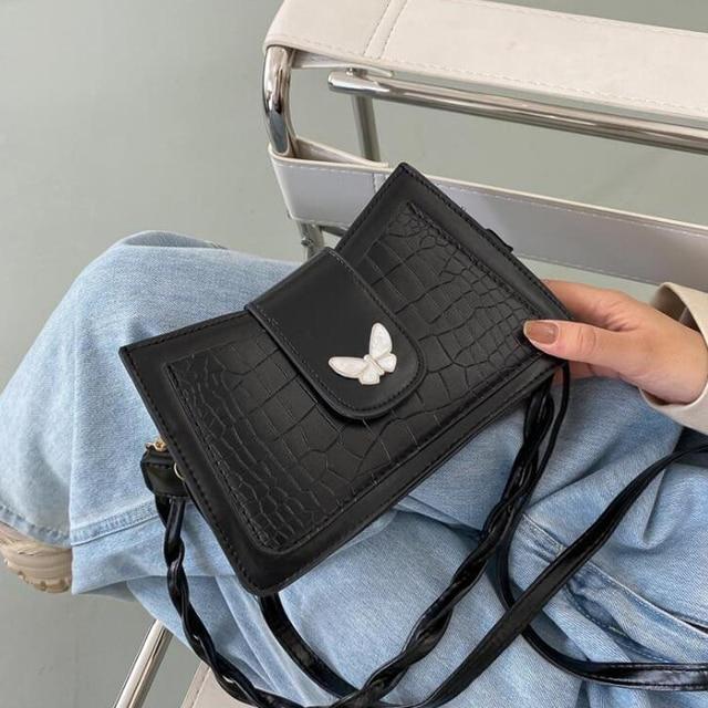 Doppel Strap Schulter Taschen für Frauen Stein Muster Umhängetaschen PU Leder Handtaschen und Geldbörsen Designer Damen Hand Taschen