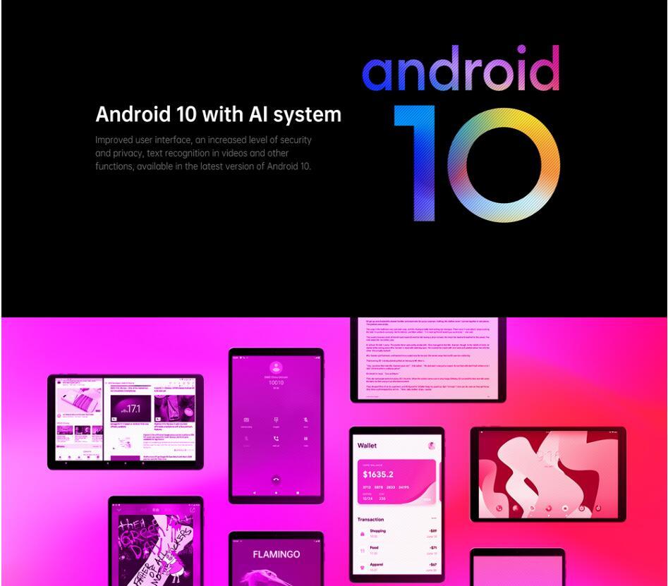 ALLDOCUBE New iPlay20 Pro 10.1 inch Android 10 Tablet 6GB RAM 128GB ROM SC9863A Tablets PC 1920*1200IPS 6000mAh TYPE-C 3