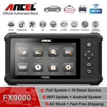 ANCEL FX9000 كامل نظام المهنية OBD2 الماسح ABS TPMS EPB النفط إعادة OBD2 السيارات الماسح الضوئي متعدد اللغات سيارة أداة تشخيص