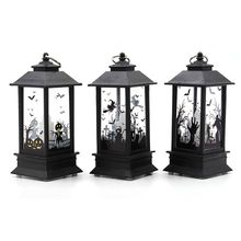 3 Pcs Halloween LED Candle Lantern, Flameless Tea Lights Battery Operated Fake Candles Decoration Party