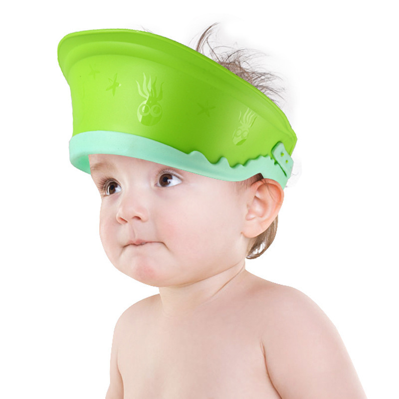 1928 # Baby Shower Cap Infant Shampoo Cap Children Waterproof Shower Cap CHILDREN'S Bath Cap Adjustable
