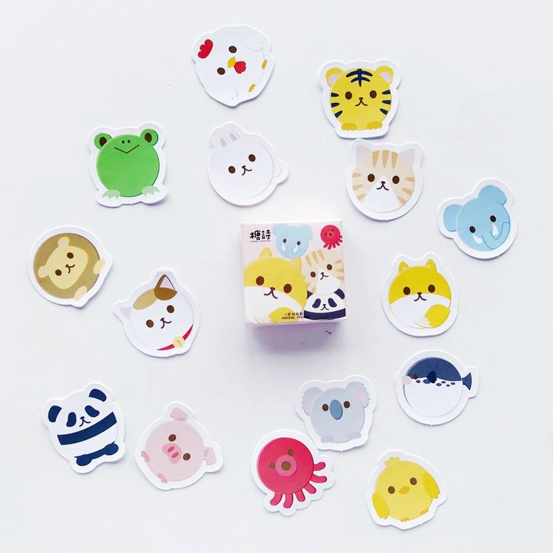 45pcs/pack Cute Panda Tiger Mini DIY Decorative Stickers Decor Stick Label