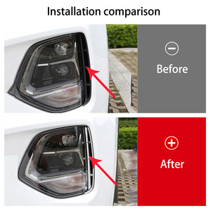 Image 2 - Headlight anti fog Kit headlights air intake trim chrome style exterior accessories for Hyundai Santa Fe Santafe IX45 2019 2020
