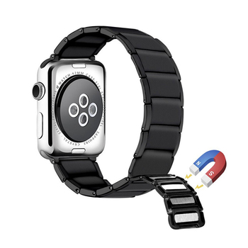 Strap for Apple watch band 44mm 40mm correa iwatch 3 2 42mm 38mm Magnet buckle stainless steel bracelet Apple watch 4 5 bumvor for apple watch band 38 42mm black gold stainless steel bracelet buckle strap clip adapter for apple iwatch