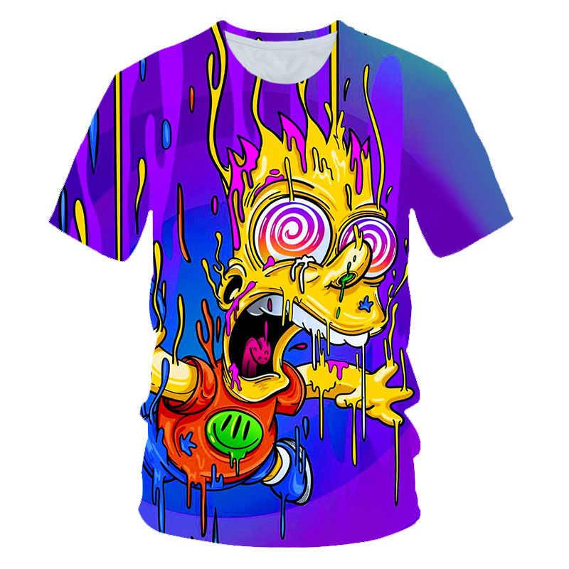 Hot Dijual Pria Wanita Anime THE SIMPSONS Graffiti T Shirt Baru Fashion Hoodies Sweatshirt 3D Print Unisex Streetwear