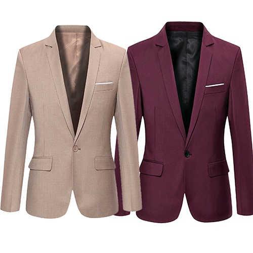 2019 最新のコートのデザインメンズスーツスリムエレガントなタキシード結婚式ビジネスパーティードレスジャケット