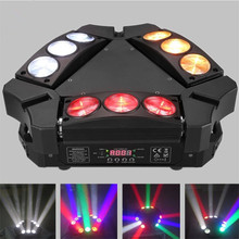 Moving Head Stage Light RGBW 4 in 1 DMX512 Rotating Stage Effect Lamp for DJ Disco Club Party Dance Wedding Bar Theater Pub Xmas