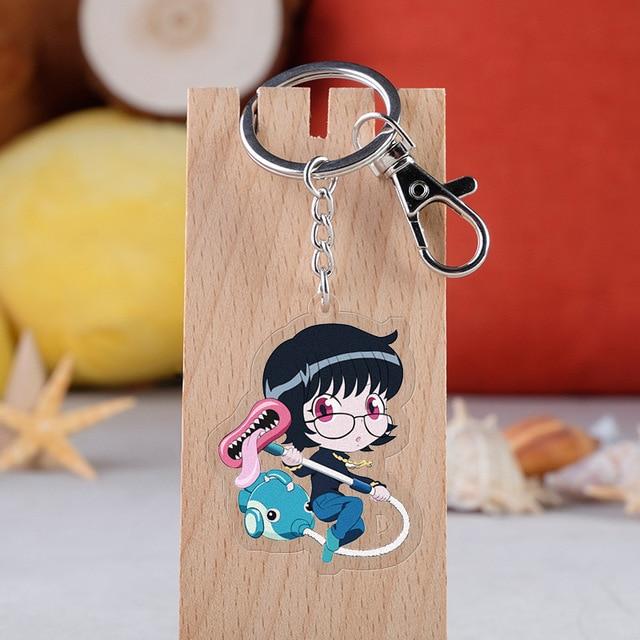 HUNTER X HUNTER Anime Killua Zoldyck Kurapika Key Chains Two-sided Keychain Cosplay Acrylic Pendant Keyring