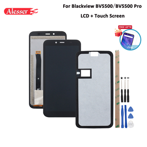Image 1 - Alesser For Blackview BV5500 LCD Display and Touch Screen Assembly  For Blackview BV5500 Pro Phone Accessories +Tools+Tape +Film