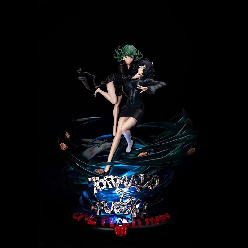 GK Universe Weird Factory: Blowing Snow Tornado Sisters Flower Punch Man Saitama Statue Figure 1