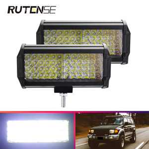 Image 1 - 144W Led Licht Bar arbeit licht für Offroad Traktor Lkw Jeep SUV ATV Boot Bagger 12 24V 4x4 led work flut Combo auto Bar lampe