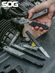 SOG Qorg Q1 / Q2 / Q3 / Q4 Tactical Pen Scissors Multifunctional Bottle Opener Outdoor Camping Survival Self Defense Tool