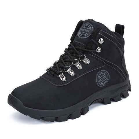 Winter Fur Boots Men Shoes Safty Military Boots Outdoor Snow Boots Army Boots Ankle Warm Shoes Casual Flats zapatos de hombre Karachi