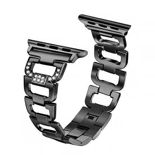 Fullmetal Diamond Strap for Apple Watch Series 5 4 44mm 42mm Popular Bracelet Band for Iwatch 1/2/3 40mm 38mm Watch Accessories | Watchbands