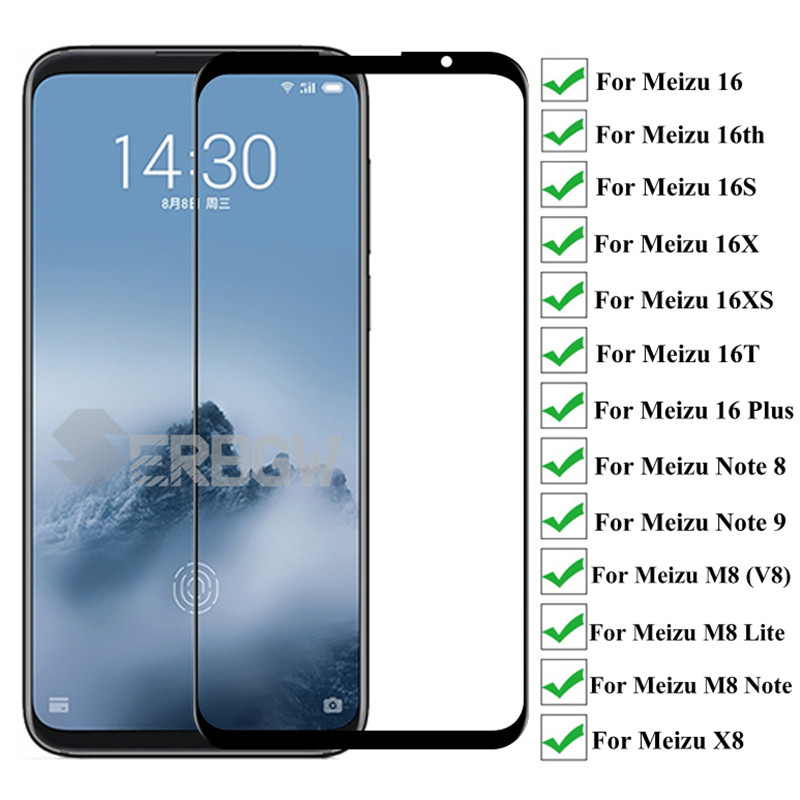 9D Protective Glass For Meizu 16 Plus 16th 16s 16X 16T 16XS V8 M8 Lite Screen Protector For Meizu Note 8 9 Tempered Glass Film