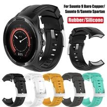 Rubber Watch Band Strap for Suunto 9/Suunto 9 Baro Copper/Sunnto Spartan Replacement Wristband for Sunnto 9/Suunto 9 Bracelet
