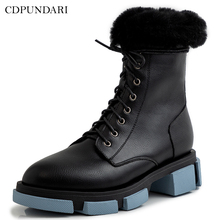Black Ankle boots for women low heel Winter snow boots waterproof Ladies platform Boots shoes winter boots women 2018 new fashion ladies shoes sexy ankle boots for women beige black scarpe donna 8cm