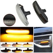 LED Wasser Fließende Blinker Anzeige Lampe Sequentielle Blinker Lichter für Land Rover Freeland 2 Entdeckung 3 4 Range Rover sport