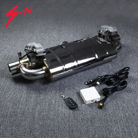 Electric Valve Muffler 1 inlet 2 outlet Electric Exhaust Cutout Valve 63mm Remote Control Sounds Mufflers