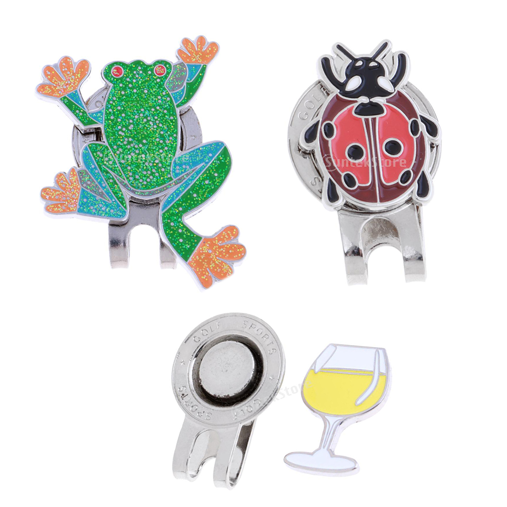 Novelty Magnetic Cap Clip With Golf Ball Marker Fits Golf Visor Golfer Gift Frog Both For Women And Men