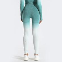 GYMQUASAR Ombre bezszwowe damskie spodnie jogi legginsy Push Up siłownia Sport bieganie joga wysokiej talii legginsy treningowe energii tanie tanio CN (pochodzenie) Elastyczny pas NYLON spandex WOMEN Pasuje prawda na wymiar weź swój normalny rozmiar Yoga Pełnej długości