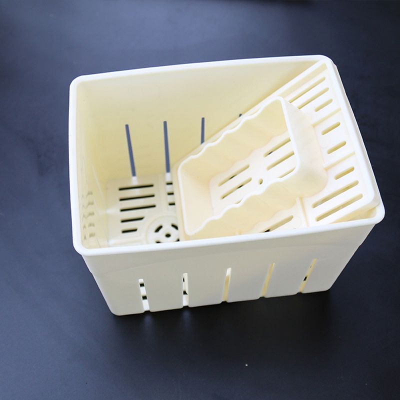 DIY Plastic Tofu Press Mould Homemade Tofu Mold Soybean Curd Tofu Making Mold With Cheese Cloth Kitchen Cooking Tool