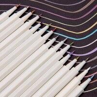 15/20/30 색상 금속 마커 펜 소프트 아트 마커 브러쉬 펜 세트 DIY Scrapbooking 공예 편지지 드로잉 디자인 용품에 대 한