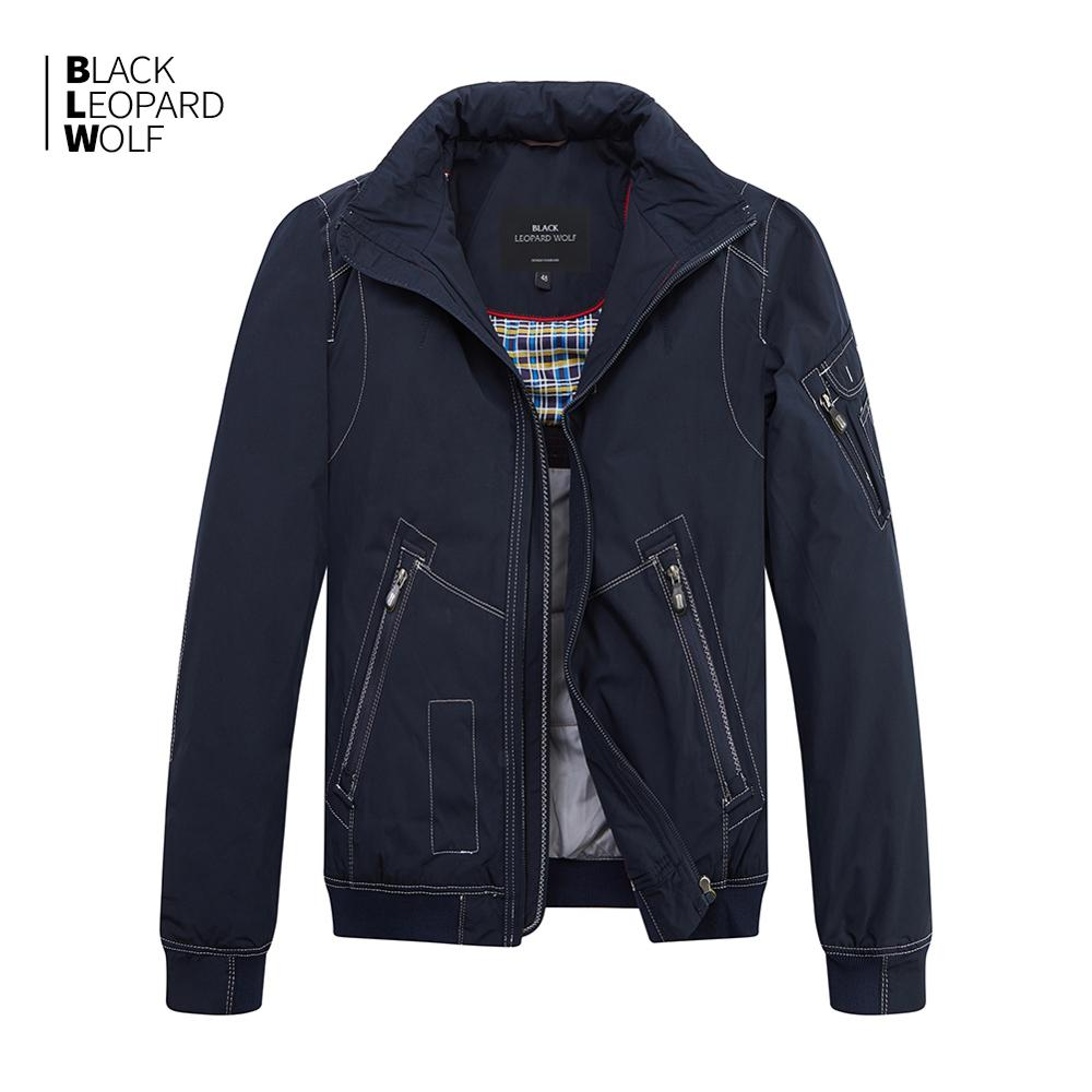 Blackleopardwolf 2019 New Arrival Spring Coat Men High Quality Causal Parkas Short Style Down Jacket Thin Cotton MC-17065