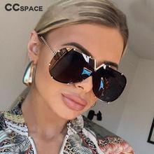 45452 armação de liga uma lente v óculos de sol mulheres marca luxo designer moda masculina feminino tons