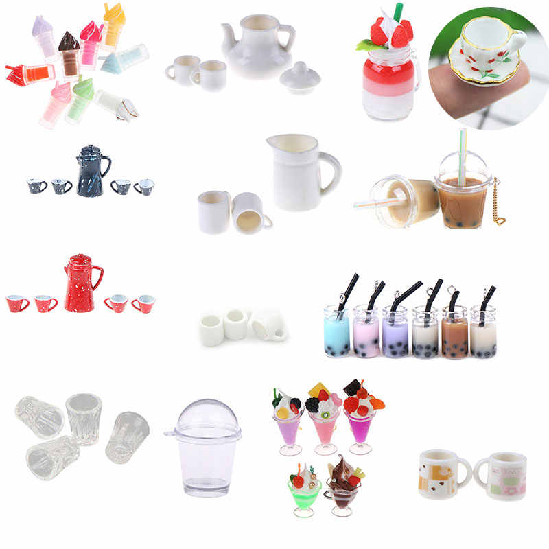 1:12 Dollhouse Miniature Accessories Metal Kettle Pretend Play Kitchen Toys  DFC