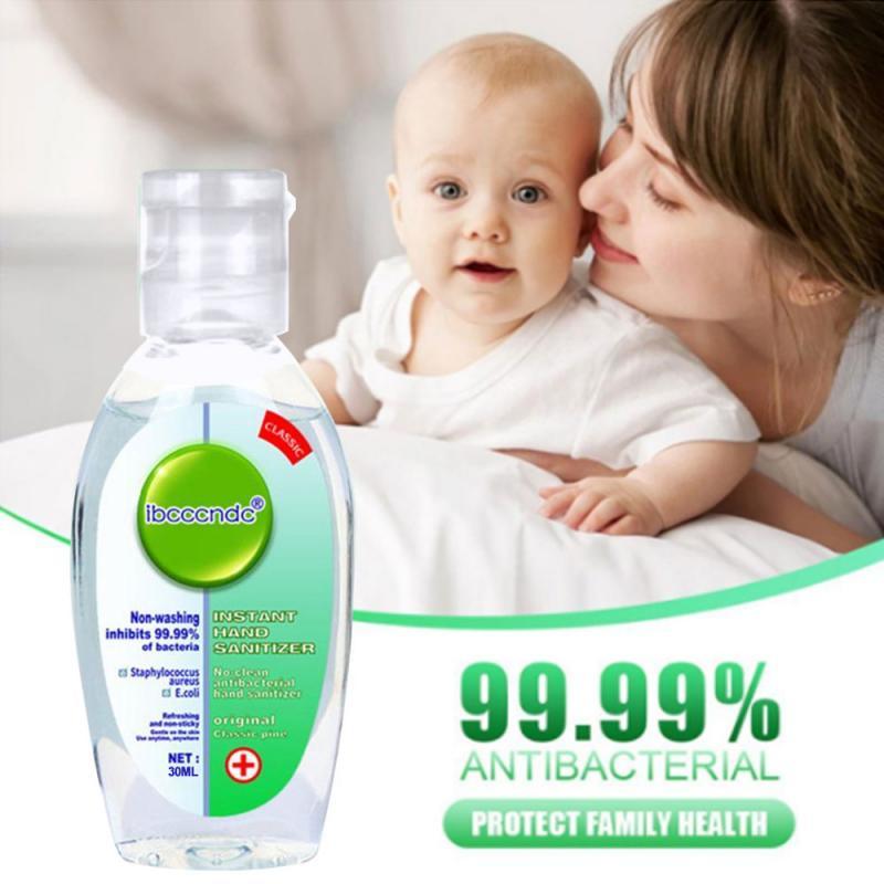 30ml Travel Portable Hand Sanitizer Gel Anti-Bacteria Moisturizing Liquid Disposable No Clean Waterless Antibacterial Hand Gel