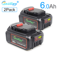 Waitley DCB200 5.0A Replacement Battery Compatible with Dewalt 20V Max XR Tools