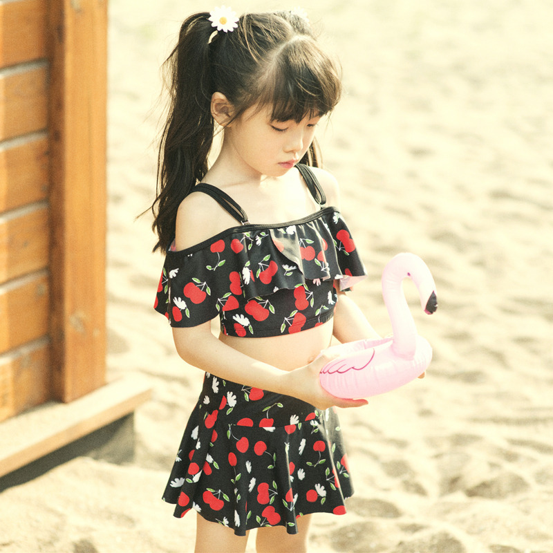 Wave Die Yi Bubble Hot Spring KID'S Swimwear GIRL'S Split Swimsuit Small Children South Korea Boxer Students Tour Bathing Suit 6