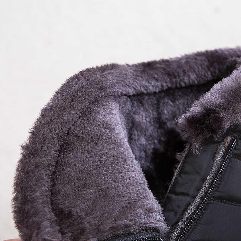 נשים מגפי שלג עמיד למים מגפיים נשי קטיפה חורף מגפי נשים חם קרסול Botas Mujer חורף נעלי אישה בתוספת גודל 43