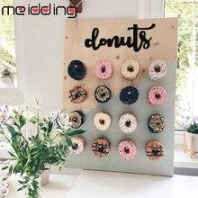 Ahşap Donut duvar çörek tutucu Donut panoları Stand düğün masa süslemeleri çocuklar doğum günü partisi bebek duş malzemeleri