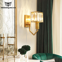 Modern LED Wall Lamps French Luxury Golden Vanity Lighting Fixtures Living Room Bedroom Sconce Lamp Aisle Stair Lights