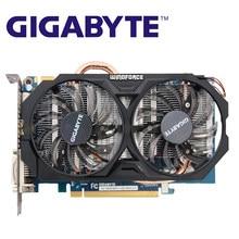Gigabyte GV-N660WF2-2GD placas gráficas 192bit gddr5 gtx660 n660 rev.2.0 placa de vídeo para nvidia geforce gtx660 hdmi dvi cartões usados