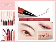 Novo 6 cores líquido lápis eyeliner cabeça dupla com diy delineador líquido suave durável à prova dtágua líquido olho forro caneta tslm1
