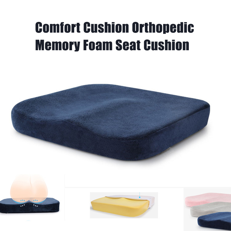 Memory Cotton Car Cushion Beautiful Hip Pad Slow Rebound Sofa Cushion Office Driving Car Seat Cushion Pad Thickening Category