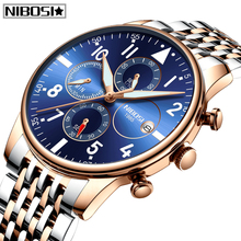 Relogio Masculino New Fashion Mens Watches NIBOSI Top Brand Luxury Watch Men Waterproof Sport Quartz Business
