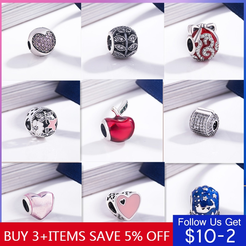 CodeMonkey 925 Sterling Silver Christmas Hot Series Beads Charms Original  Fit Bangles &Bangles Women Fashion Jewelry Z142