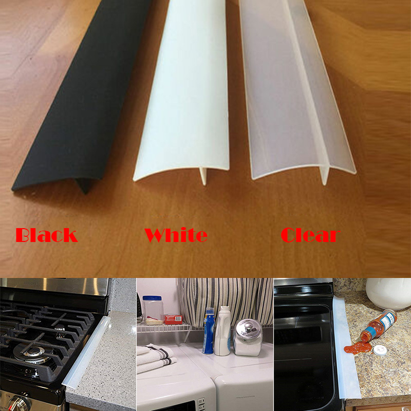 Silicone Stove Counter Gap Filler Sealing Spills Gap Fillers Easy Clean Gaps Cover Kitchen Supplies