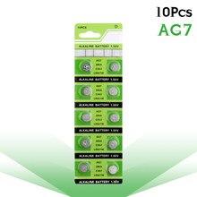 10 pçs/lote Bateria Alcalina de Célula tipo Moeda 1.55V AG7 LR927 LR57 395A SR927W 399 Baterias Botão GR927 Para Medidores De Teste De Colesterol